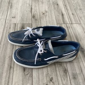 Sperry Top-Sider Striped Boat Shoes Size 11M